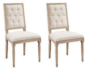 Linon Avalon Tufted Dining Chairs, Set of 2, Assembled