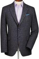 Charles Tyrwhitt Grey slim fit windowpane British tweed jacket