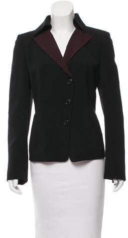 Akris Wool Colorblock Blazer