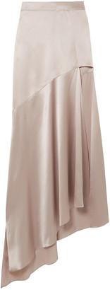 Michael Lo Sordo Imperial Silk-satin Maxi Skirt