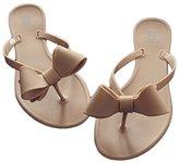 Shoe'N Tale Women Ribbon Bow Sandals Flip Flop Narrow Strap