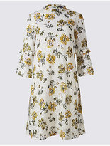 M&S Collection Cotton Rich Floral Lace Swing Dress