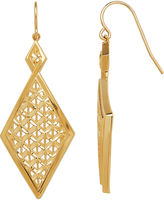 FINE JEWELRY Limited Quantities 14K Yellow Gold Double Diamond-Shaped Drop Earrings