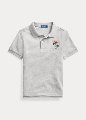Ralph Lauren Football Bear Cotton Mesh Polo