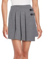 Marc by Marc Jacobs Pleated Wool Wrap Skirt