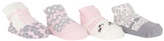 Cutie Pie Baby Gray Leopard & White Cat Four-Pair Socks Set