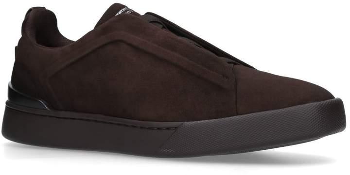 Ermenegildo Zegna Suede XXX Elastic Sneakers