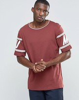 Puma Retro T-Shirt In Burgundy