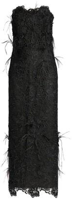 Costarellos Charabella Strapless Lace Dress