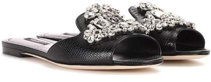 Dolce & Gabbana Crystal embellished slides