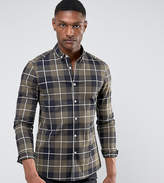 Asos Tall Stretch Slim Twill Check Shirt