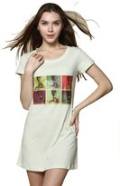 Godsen Women's Short Sleeve Sleepwear Nightgowns Nightshirt M