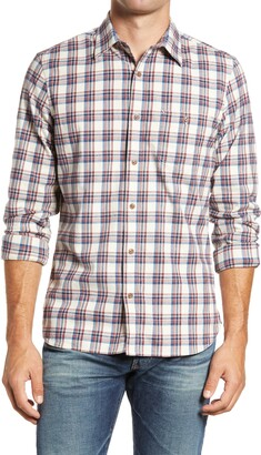 1901 Slim Fit Plaid Button-Up Flannel Shirt