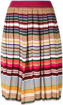 Gucci striped pleated skirt - women - Polyamide/Wool/Metallic Fibre - M