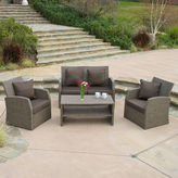 JCPenney Dunes 4-pc. Outdoor Wicker Conversation Set