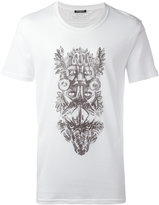 Balmain animals tribal T-shirt - men - Cotton - S