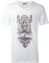 Balmain animals tribal T-shirt - men - Cotton - XS