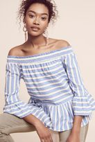 Maeve Nova Striped Off-The-Shoulder Top