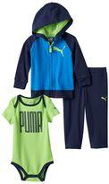Puma Baby Boy Graphic Bodysuit, Hoodie & Pants Set