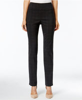 Charter Club Petite Cambridge Plaid Slim-Leg Pants, Only at Macy's