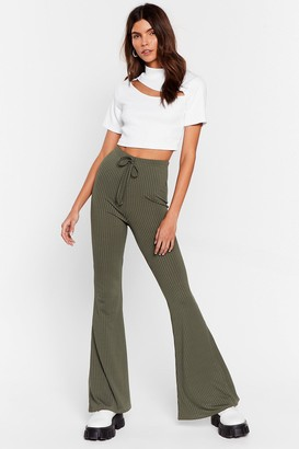 Nasty Gal Womens Flare-r Than That High-Waisted trousers - Green - 4, Green