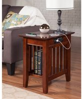 Atlantic Mission Charger Walnut Wood Side Table
