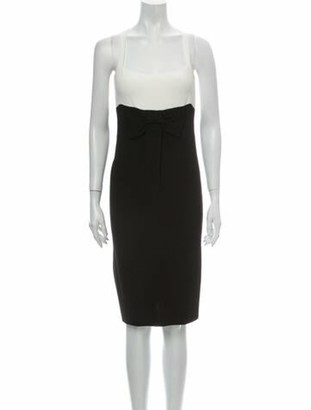 Valentino 2006 Midi Length Dress w/ Tags Black