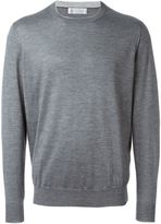 Brunello Cucinelli crew neck jumper - men - Silk/Cashmere - 54