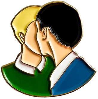 Make Heads Turn Enamel Pin Kiss