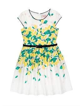Review Doris Boarder Print Lemon Dress (Girls 6-16)