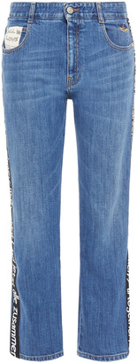 Stella McCartney + The Beatles Appliqued Mid-rise Straight-leg Jeans