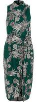 River Island Womens Green floral print high neck midi dress