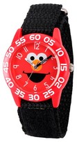 Sesame Street Boys' Red Plastic Time Teacher Watch - Black