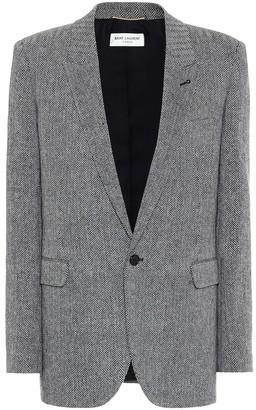 Saint Laurent Chevron stretch-wool blazer