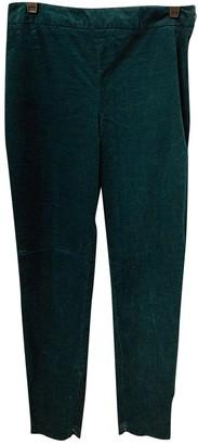 Theory Green Velvet Trousers