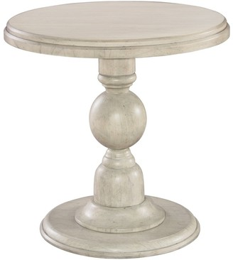Overstock Hekman Furniture Homestead Contemporary Beachy-Chic, Coastal, Occasional Pedestal End Accent Table