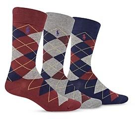 Polo Ralph Lauren Argyle Socks, Pack of 3