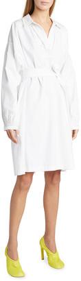 Dries Van Noten Embroidered Cotton Belted Dress