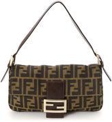Fendi Pre-Owned Brown Zucca Canvas Baguette Bag