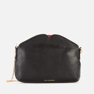 Lulu Guinness Women's Medium Peekaboo Lip Clutch Bag - Black
