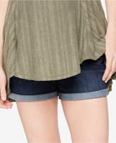 A Pea in the Pod Luxe Essentials Cuffed Denim Maternity Shorts