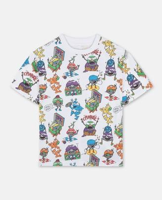 Stella McCartney Kids Music Monsters Cotton T-Shirt, Men's