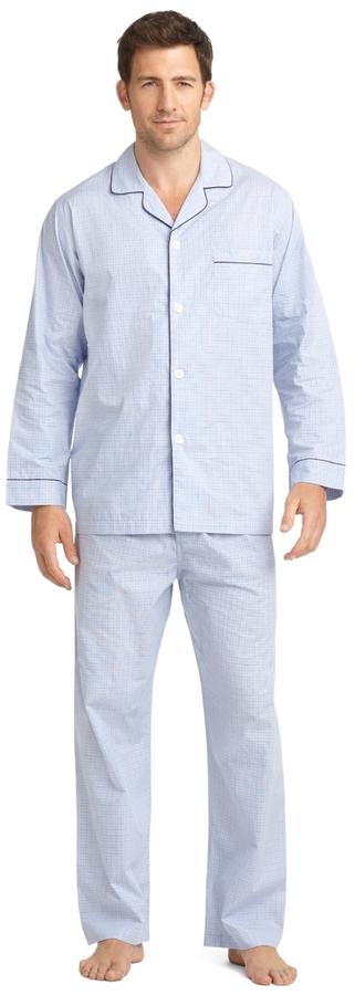 Brooks Brothers Micro Check Pajamas