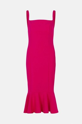 Coast Peplum Hem Bodycon Midi Dress