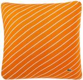 Lacoste Skiff Stripe Pillow - 18 x 18 - White/Orange