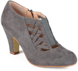Brinley Co. Women's Wide Width High Heel Round Toe Bootie