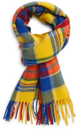 Polo Ralph Lauren Plaid Wool Blend Scarf