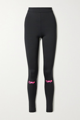 Off-White Printed Stretch-jersey Leggings - Black