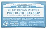 Dr. Bronner's Pure-Castile Soap, Unscented 5 oz (140 g) pack of 3