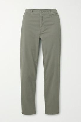 J Brand Ollie Cotton-blend Twill Pants - Gray green
